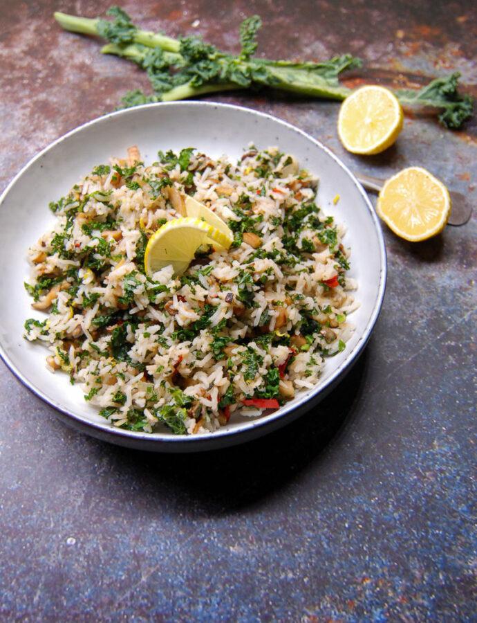 Grünkohl mit Reis